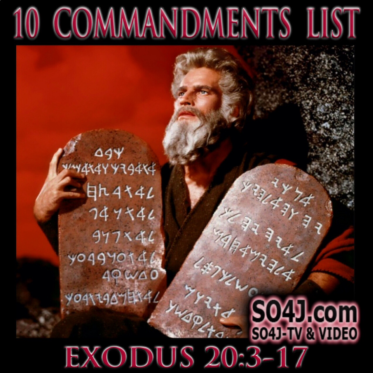10 Commandments List - SO4J-TV - SO4J.com