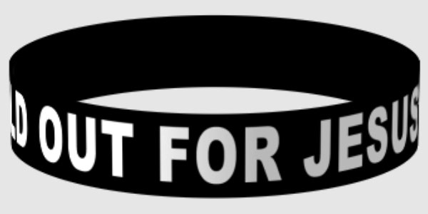 SO4J Wristband SOLD OUT FOR JESUS & SO4J